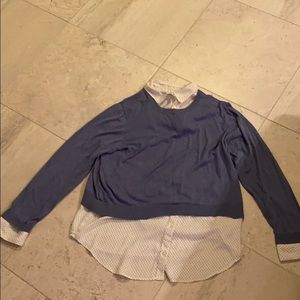 Ladies Loft sweater with button down XL